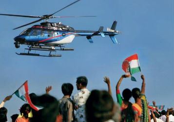Helicopter Service for Election Campaign